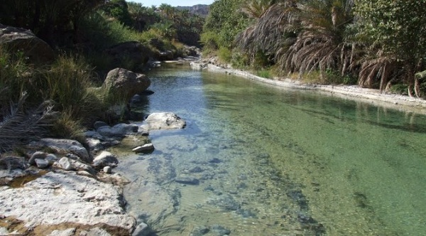 The flow of the wadi